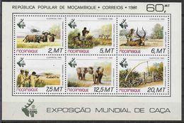 1981 MOZAMBIQUE BF 9 ** Animaux, éléphants, Arc, Chasse - Mozambique