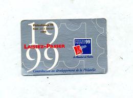 Laissez- Passer Philex France 1999 - Tickets - Vouchers