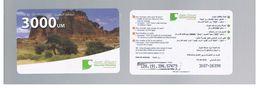 MAURITANIA   - MAURITEL MOBILES (GSM RECHARGE) - MOUNTAINS AND TREES  3000      - USED  -  RIF. 9166 - Mauritania