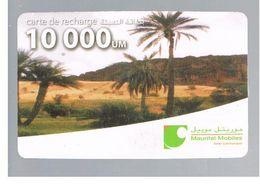 MAURITANIA   - MAURITEL MOBILES (GSM RECHARGE) - PALMS IN LANDSCAPE  10000      - USED  -  RIF. 9167 - Mauritania