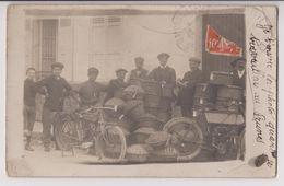 CARTE PHOTO : LIVREURS DE PRUNES EN PANIER - LIVRAISON APRES TRIAGE ET CONDITIONNEMENT - ECRITE 1915 - 2 SCANS - - A Identifier