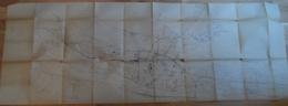 Ville-aux-Dames,Montlouis,Rochecorbon à Gauche.Joué,St.Genouph à Droite Et Tours Au Centre.Voies De Chemin De Fer,routes - Cartes Topographiques