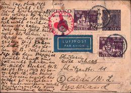 ! 1.12.1944 Postkarte Aus Stockholm Schweden, Sweden, Sverige N. Calau, Luftpost, Zensur, Censure, Censor, Airmail - Lettres & Documents