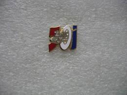 Pin's Du 501e Regiment De Char De Combat. Bleu Blanc Rouge - Militari