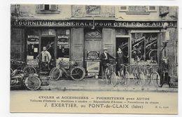 (RECTO / VERSO) PONT DE CLAIX - CYCLES ET ACCESSOIRRES - FOURNITURE POUR AUTO - CPA ANIMEE NON VOYAGEE - France