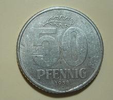 Germany 50 Pfennig 1958 A With Defect - [ 6] 1949-1990 : GDR - German Dem. Rep.