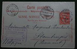 Suisse - Meiringen - Hôtel Du Sauvage - Lith. A. Brügder - 403 - Verso : Cachet Hôtel Breuer-Montreux-Concierge - 1901 - BE Berne