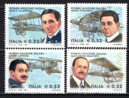ITALIA - 2003 - CENTENARIO DEL PRIMO VOLO - PIONIERI DELL'ARIA - NUOVI MNH - 6. 1946-.. Republic