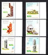 Sahara Occ. - 1992. Siti  Maya: Chichen Itza, Uxmal, Tikal, Palenque, Copan, Quirigua. MNH - Archeologia