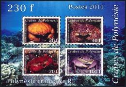 POLYNESIE 2011 - Yv. BF37 (935 à 938) ** SUP  Cote= 5,50 EUR - Crabes (4 Val.)  ..Réf.POL23398 - Blocs-feuillets