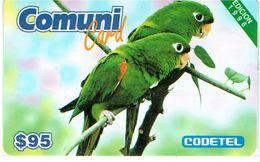 PHONECARDS-    -DOMINICANA-EDITION 1997  COMUNDI CARD  --$ 95---BIRDS --- BLISTER -- - Dominicana
