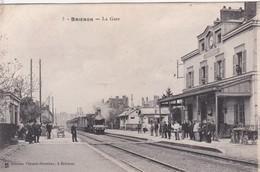 BRIENON LA GARE BELLE ANIMATION TRAIN RAILS - Brienon Sur Armancon