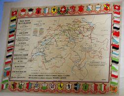 Grande Carte Affiche (59cm X 45cm) Carte Des Chemins De Fer Suisses Suisse Burckardt éditeur Lithographie Duc Genève - Affiches