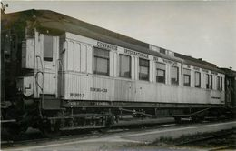 WAGON N°1950 D Compagnie Internationale Des Wagons Lits,villeneuve 1947,(photo Format Carte Ancienne) - Trains