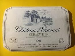 6929 - Château L'0rdonat  1990 Graves - Bordeaux