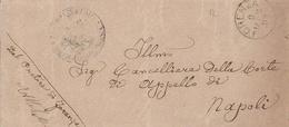 Forenza. 1893. Annullo Grande Cerchio FORENZA  + PRETURA , Su Franchigia - 1878-00 Humberto I