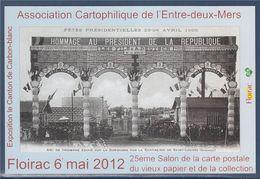 = 25ème Salon De La Carte Postale, Floirac 6 Mai 2012, Association Cartophilique De L'Entre Deux Mers - Sammlerbörsen & Sammlerausstellungen