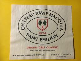 6933 - Château Pavie Macquin 1974 Saint Emilion - Bordeaux