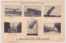 Brasschaet Polygone - Brasschaat - Souvenir - 6 Zichten - Vliegtuigen - Ballons - Kasteel Mick - Dorp - Uitg. Francois - Brasschaat