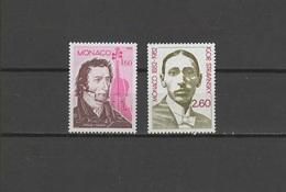 Monaco 1982 Music, Composer, Niccolo Paganini, Igor Stravinsky 2 Stamps MNH - Music
