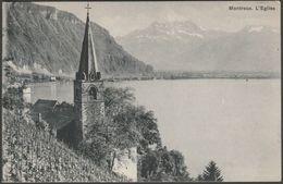 L'Eglise, Montreux, Vaud, C.1910s - Künzli-Tobler CPA - VD Vaud