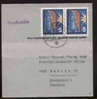 Bund - 2 X MiNr. 629 Als MeF Auf Drucksache (Streifband) - Gelaufen 17.1.1971 - FRANKFURT AM MAIN - BRD