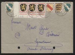 Französische Zone - MiNr. 2  Eckrend Unten Links (Bogennr.) Als MiF Auf Brief - Gelaufen 5.9.1946 - BROMBACH (WIESENTAL) - Zone Française