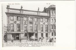 Das Alte Berlin - Die 'Alte Post' In Der Burg-Straße Im Jahre 1888 - (Photo/Foto: 102 Berlin) - Mitte
