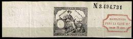 Cabecera Papel Timbrado 1882, 50c. Con Habilitación Para 75c. - Fiscales