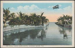 The Canal, Curtis James Estate, Cocoanut Grove, Miami, Florida, C.1910 - Chamberlain Postcard - Miami
