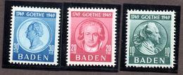 Colonies Françaises BADE  N°48/50 N* TB  Cote 31 Euros !!! - France (former Colonies & Protectorates)