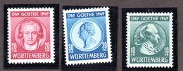 Colonies Françaises WURTEMBERG  N°46/48 N** LUXE  Cote 47 Euros !!! - France (ex-colonies & Protectorats)