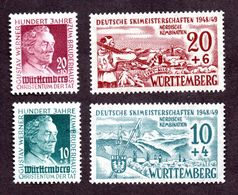 Colonies Françaises WURTEMBERG  N°42/45 N** LUXE  Cote 33 Euros !!! - France (ex-colonies & Protectorats)