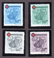 Colonies Françaises Rhéno Palatin  N°41/44 N* TB  Cote 80 Euros !!! - France (former Colonies & Protectorates)