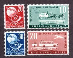 Colonies Françaises Rhéno Palatin  N°48/51 N** LUXE  Cote 41 Euros !!! - France (ex-colonies & Protectorats)