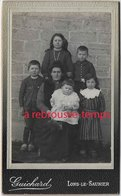 CDV Scène Familiale-enfants En Galoche-photographe Richard à Lons Le Saunier - Photos
