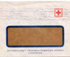 Enveloppe Kuvert - Pub Reklam Tekniska Fabriken Gripen - Linköping - Sverige Suède Zweden 1945 - Postal Stationery