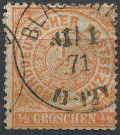 NDP 1/2 Gr Freimarke Michel 15 Gestempelt (1-484) - Norddeutscher Postbezirk