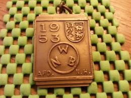 Medaille  / Medal -   Noord Holland - N.W.B 1953 ( Afd. N.H )   Walking / Marche Pour L'Association   - The Netherlands - Netherland