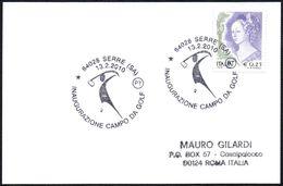 ITALIA SERRE (SA) 2010 - INAUGURAZIONE CAMPO DA GOLF - SMALL SIZE CARD - Golf