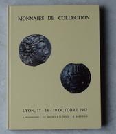 Catalogue Monnaies De Collection Vente Aux Enchères Lyon 1982 - Books & Software
