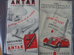 PROTEGE CAHIER HUILE ANTAR LUBRIFIANT HOTCHKISS PRECONISE ANTAR HUILE DE FRANCE 1937 - Automobile