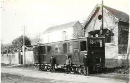 TOD   -La Côte Saint André-(ancien Retirage Photo Format Carte Ancienne) - Trains