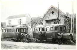 TOD   1929 -La Côte Saint André, Loco Saurer-(ancien Retirage Photo Format Carte Ancienne) - Trains