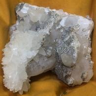 C5 - 6 Quartz Calcite  Cavnic Roumanie - Minerals