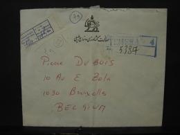 LetDoc. 1245. Lettre Venant De Téhéran Vers Schaerbeek En 1975. Languette D'un Avis Remis Dans La Boîte - Iran