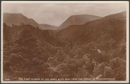 The Lairig Ghru Pass From Rothiemurchus, Inverness-shire, C.1940s - J B White RP Postcard - Inverness-shire