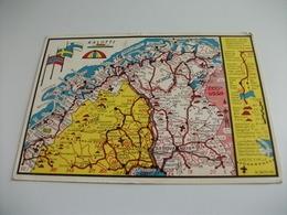 CARTA GEOGRAFICA FINLANDIA SUOMI NORGE SVERIGE CCCP USSR  ROVANIEMI  KALOTTI  STRAPPETTO IN ALTO - Carte Geografiche