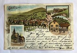 Gruss Aus Lautenbach Lithographie Joseph Schumpff - Frankrijk