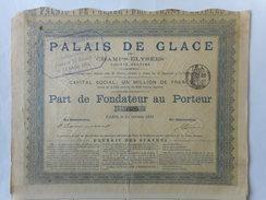 PALAIS De GLACES Des CHAMPS ELYSEES 1893 PARIS - Autres